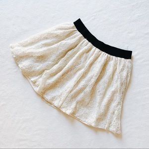 Lacy Off-White Skirt (Size S)